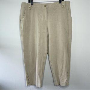 DRESSBARN Tan Cropped Capri Pants Size 16W
